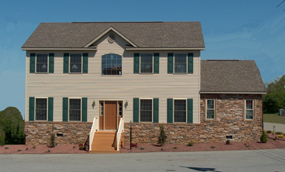 Pennwest Bennington Two Story Modular Home Exterior - Click for Details