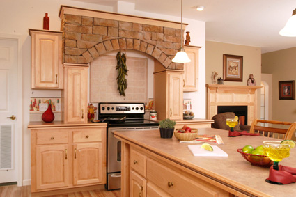 Colony Homes WW682-A Kitchen With Stone Hearth Range