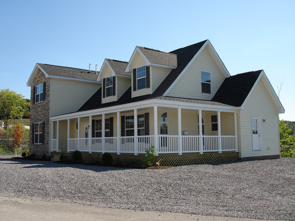 Pennwest ridgefield model hk101 a two story cape cod for Cape style modular homes