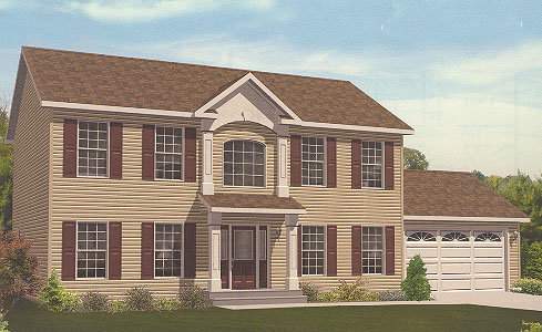 Artist's Rendering of The Bennington Two Story Modular Home (Pennwest Homes Model: HS107-A)