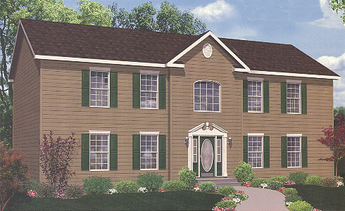 Artist's Rendering of The Hamilton Two Story Modular Home (Pennwest Homes Model: HS106-A)