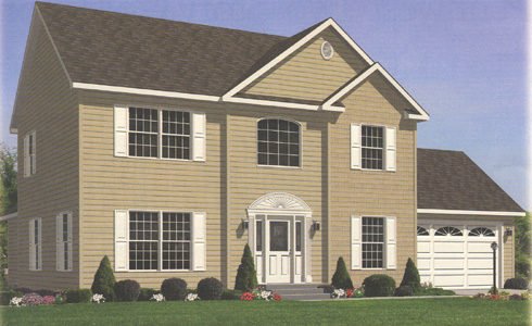Artist's Rendering of The Harrington III Two Story Modular Home (Pennwest Homes Model: HJ161-A)