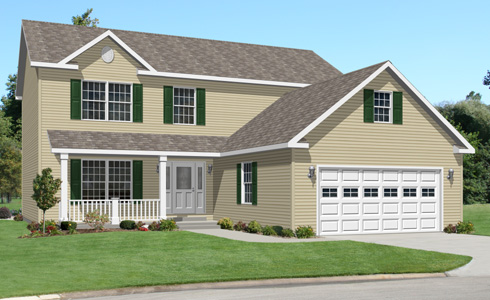 Artist's Rendering of The Jefferson II Two Story Modular Home (Pennwest Homes Model: HS119-A)