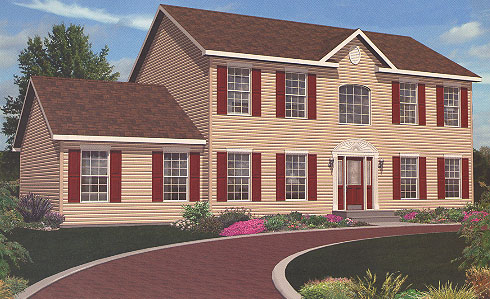 Artist's Rendering of The Lexington II Two Story Modular Home (Pennwest Homes Model: HS115-A)