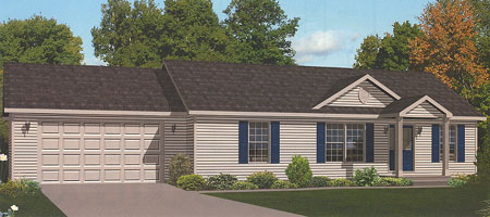 Artistu0027s Rendering Of The Edgewood Ranch Modular Home (Pennwest Homes  Model: HV103 A